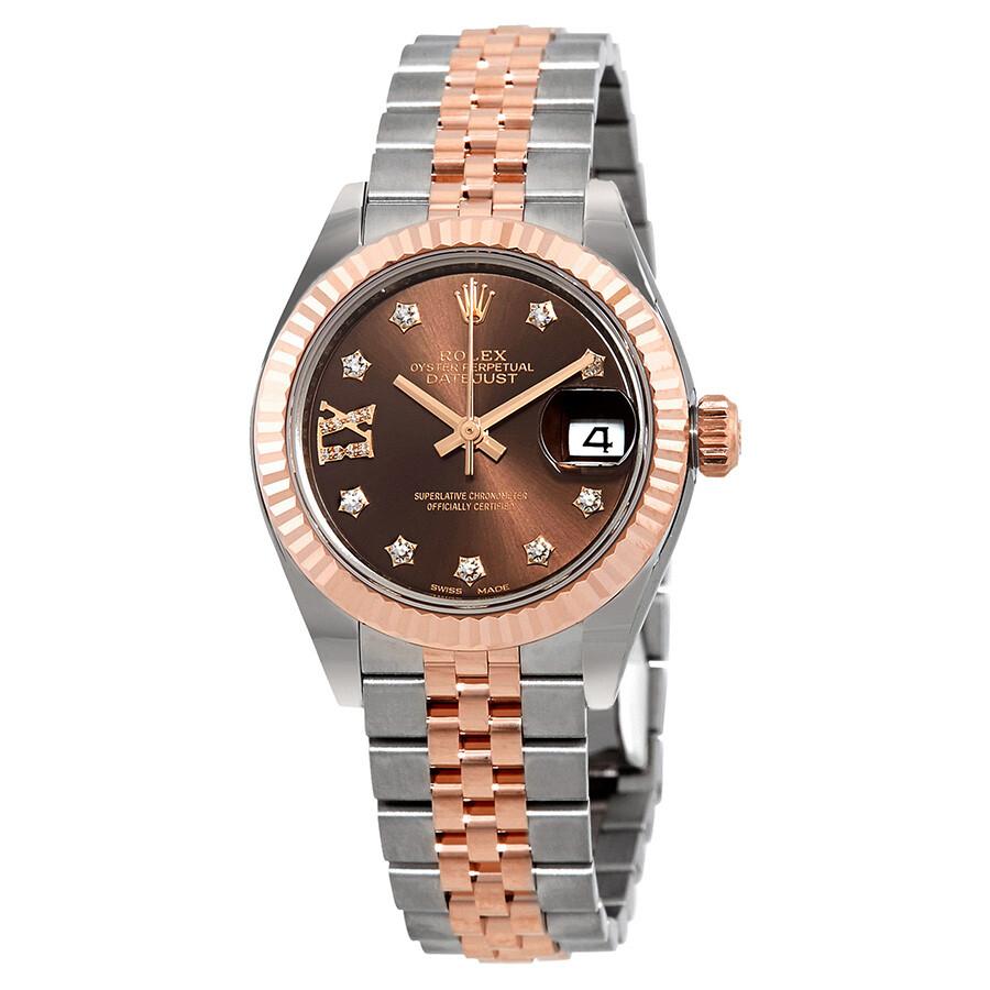 Rolex Lady Datejust Chocolate Diamond Dial Automatic Watch 279171CHDRJ