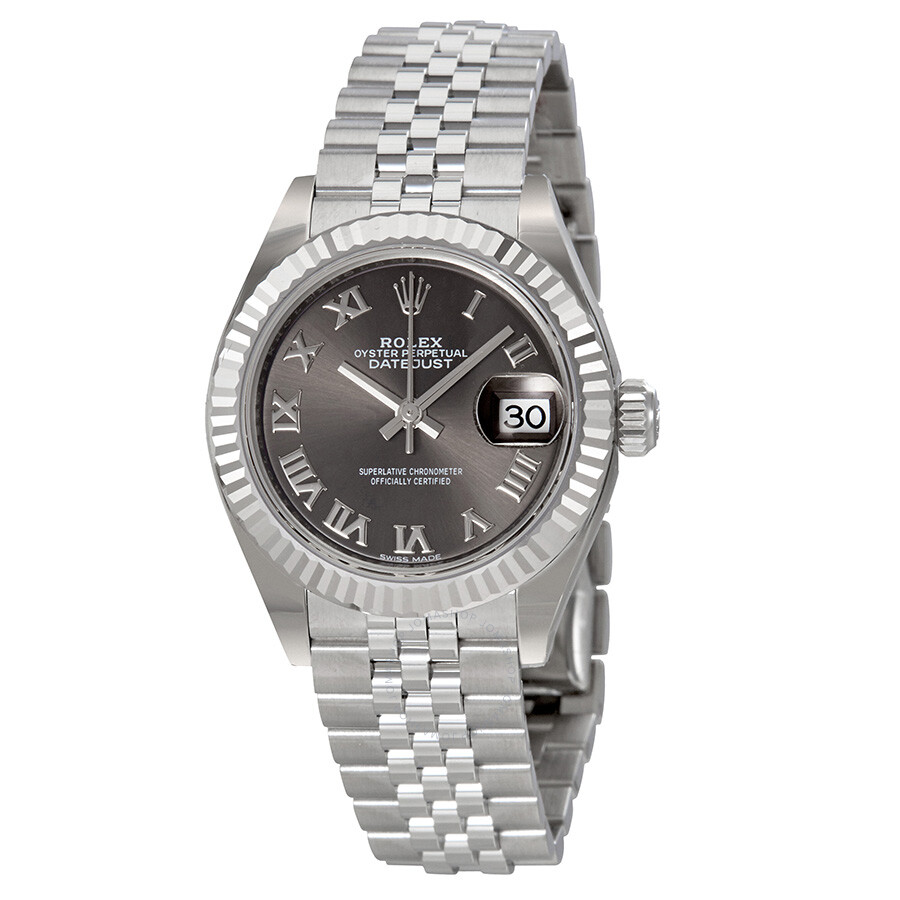 Rolex Lady Datejust Rhodium Dial Steel and 18K White Gold Watch 279174RRJ