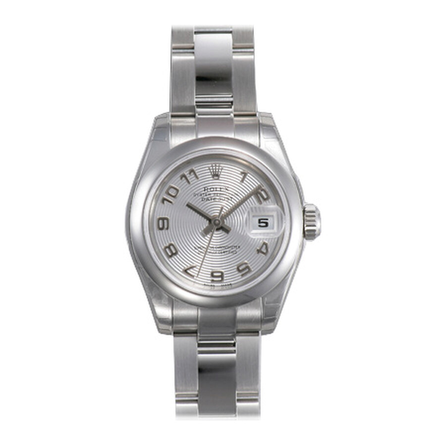 Rolex Datejust Silver Arabic Dial Oyster Bracelet Ladies Watch 179160SAO