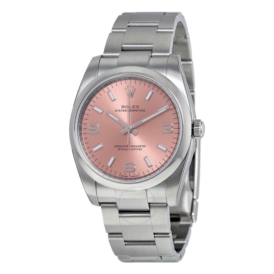 Rolex Oyster Perpetual 34 Pink Dial Stainless Steel Bracelet ...