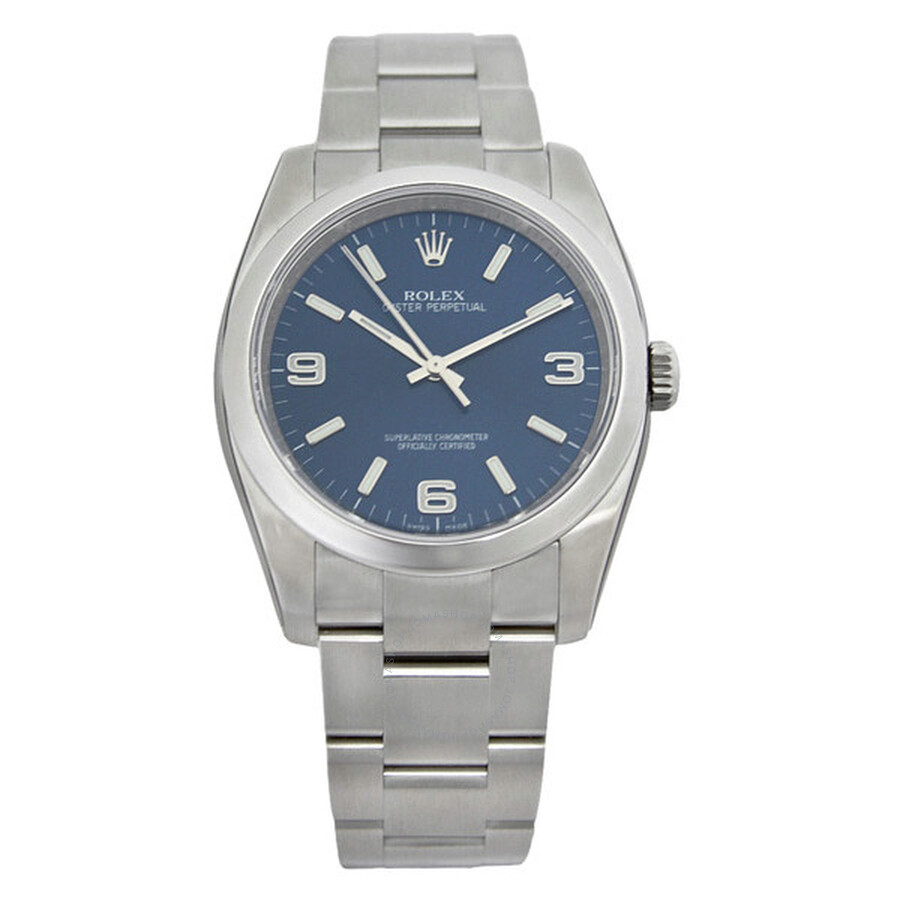 Rolex Oyster Perpetual 36 mm Blue Dial Stainless Steel ...