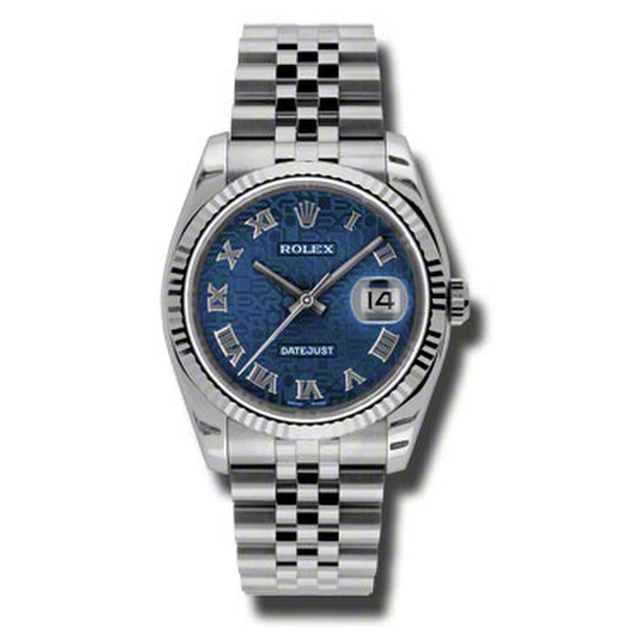 Rolex Oyster Perpetual 36 mm Blue Dial Stainless Steel Jubilee Bracelet Auto..