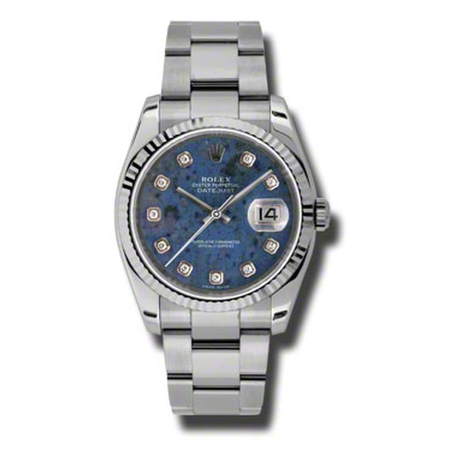 Rolex Oyster Perpetual 36 mm Blue Sodalite Dial Stainless Steel Bracelet Aut..