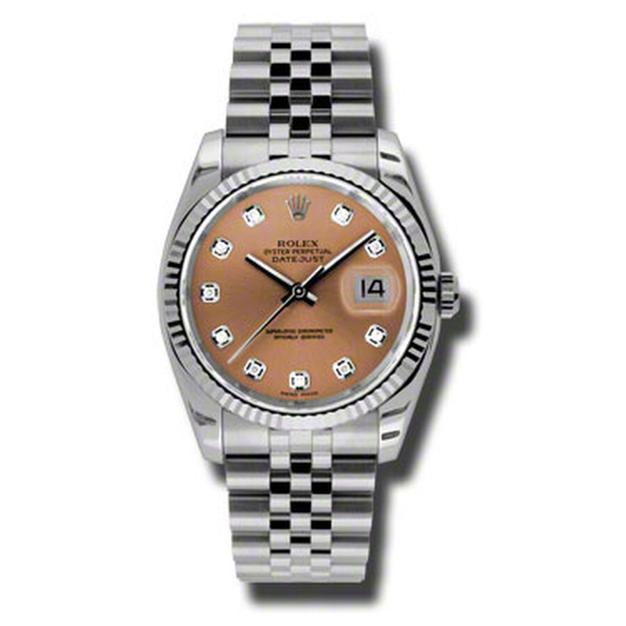 Rolex Oyster Perpetual 36 mm Pink Dial Stainless Steel Jubilee Bracelet Auto..
