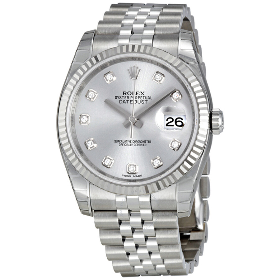 Rolex Oyster Perpetual 36 mm Rhodium Dial Stainless Steel Jubilee Bracelet A..