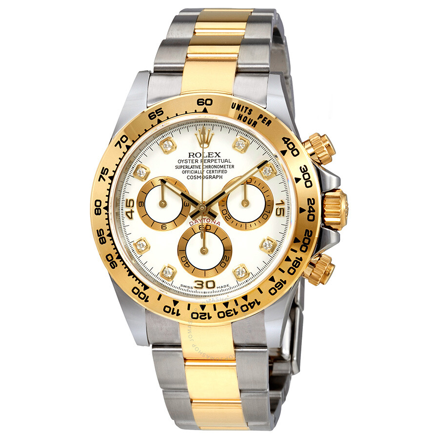 Rolex oyster perpetual cosmograph daytona white diamond dial ladies watch 116503wdo cosmograph for Rolex cosmograph daytona