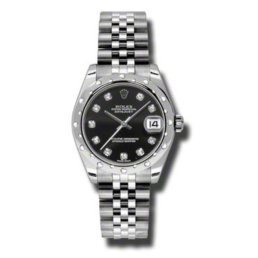 Rolex Oyster Perpetual Datejust 31 Black Dial Stainless Steel Jubilee Bracel..