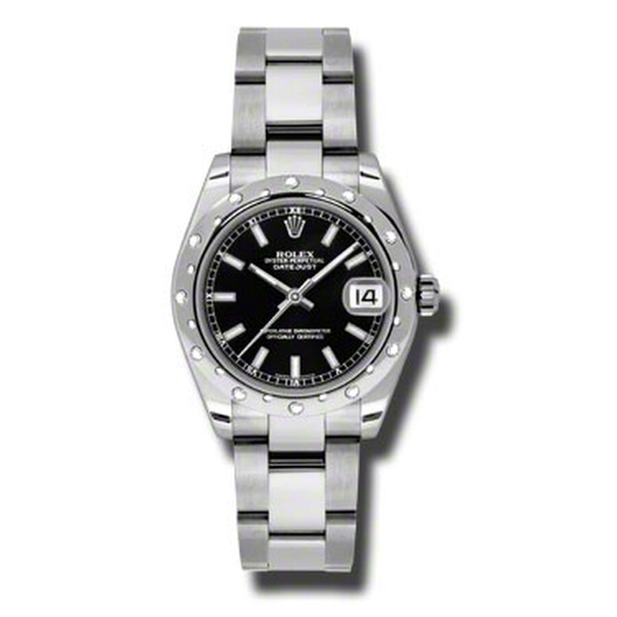 Rolex Oyster Perpetual Datejust 31 Black Dial Stainless Steel Bracelet Autom..