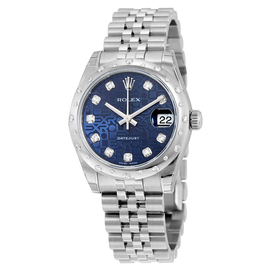 Rolex Oyster Perpetual Datejust 31 Blue Dial Stainless Steel Jubilee Bracele..
