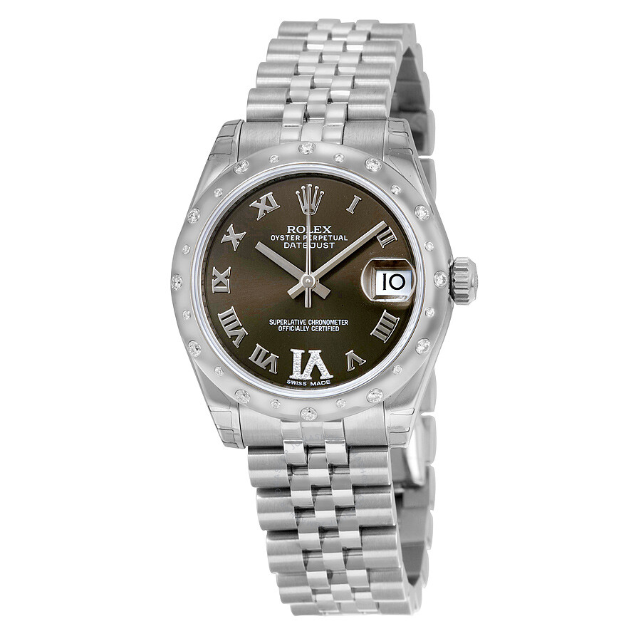 Rolex Oyster Perpetual Datejust 31 Bronze Dial Stainless Steel Jubilee Brace..
