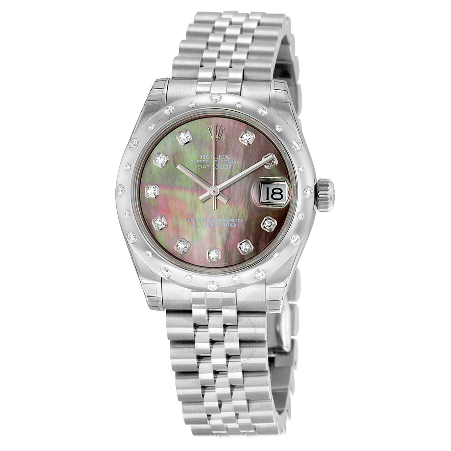 Rolex Oyster Perpetual Datejust 31 Dark Mother of Pearl Dial Stainless Steel..