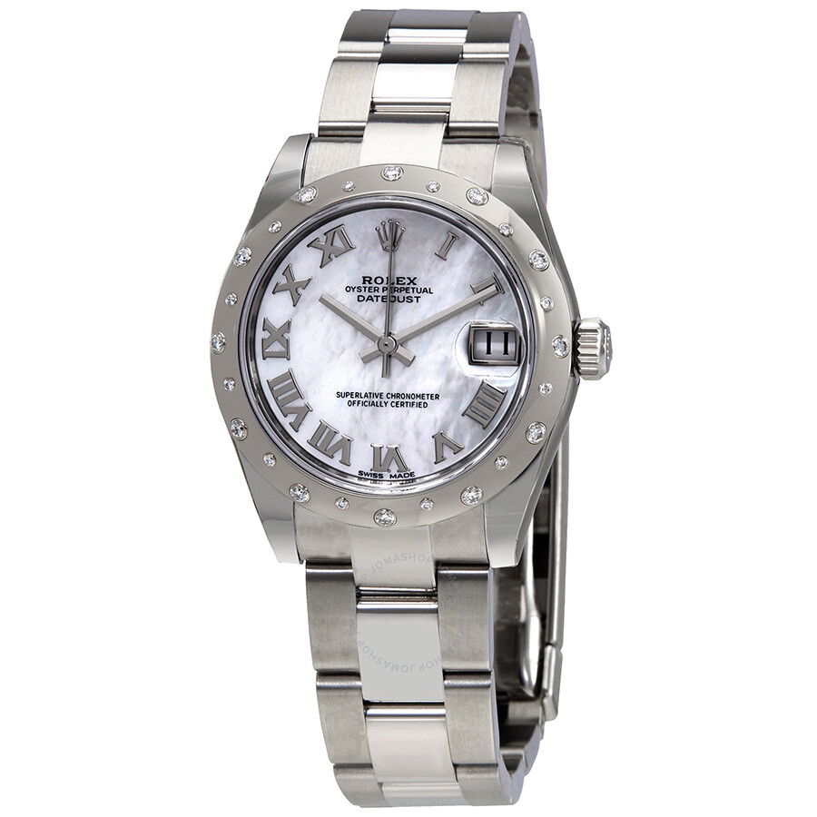Rolex Oyster Perpetual Datejust 31 Mother of Pearl Dial Stainless Steel Brac..