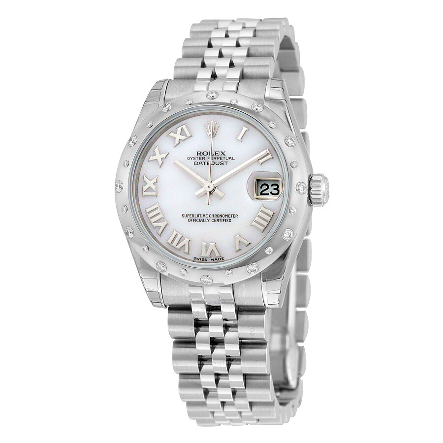 Rolex Oyster Perpetual Datejust 31 Mother of Pearl Dial Stainless Steel Jubi..