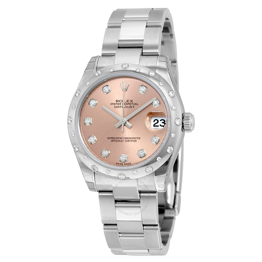 Rolex Oyster Perpetual Datejust 31 Pink Dial Stainless Steel Bracelet Automa..