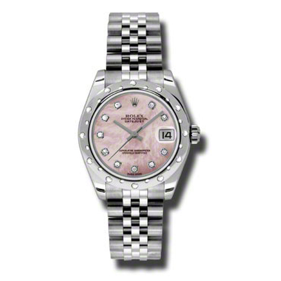 Rolex Oyster Perpetual Datejust 31 Pink Mother of Pearl Dial Stainless Steel..