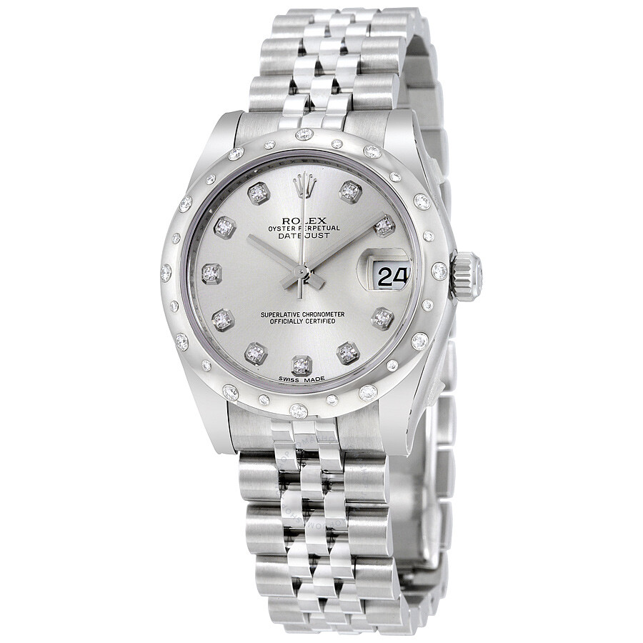 Rolex Oyster Perpetual Datejust 31 Silver Dial Stainless Steel Jubilee Brace..