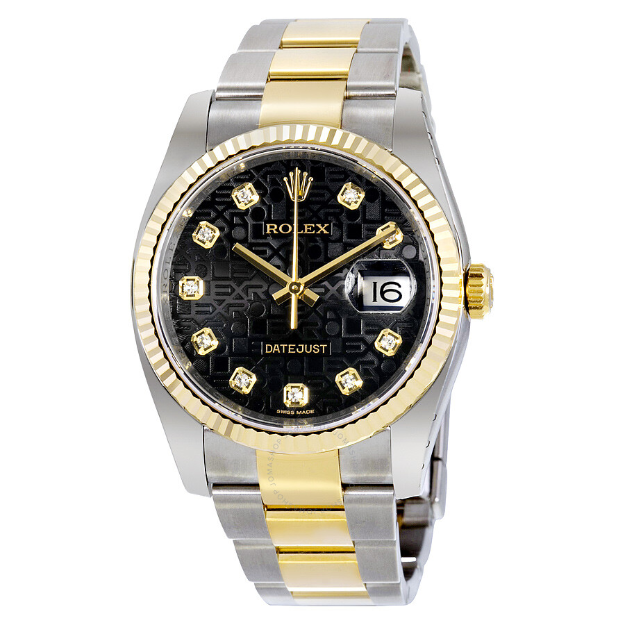 5366299f81c Rolex Oyster Perpetual Datejust 36 Black Dial Stainless Steel and 18K  Yellow Gold Bracelet