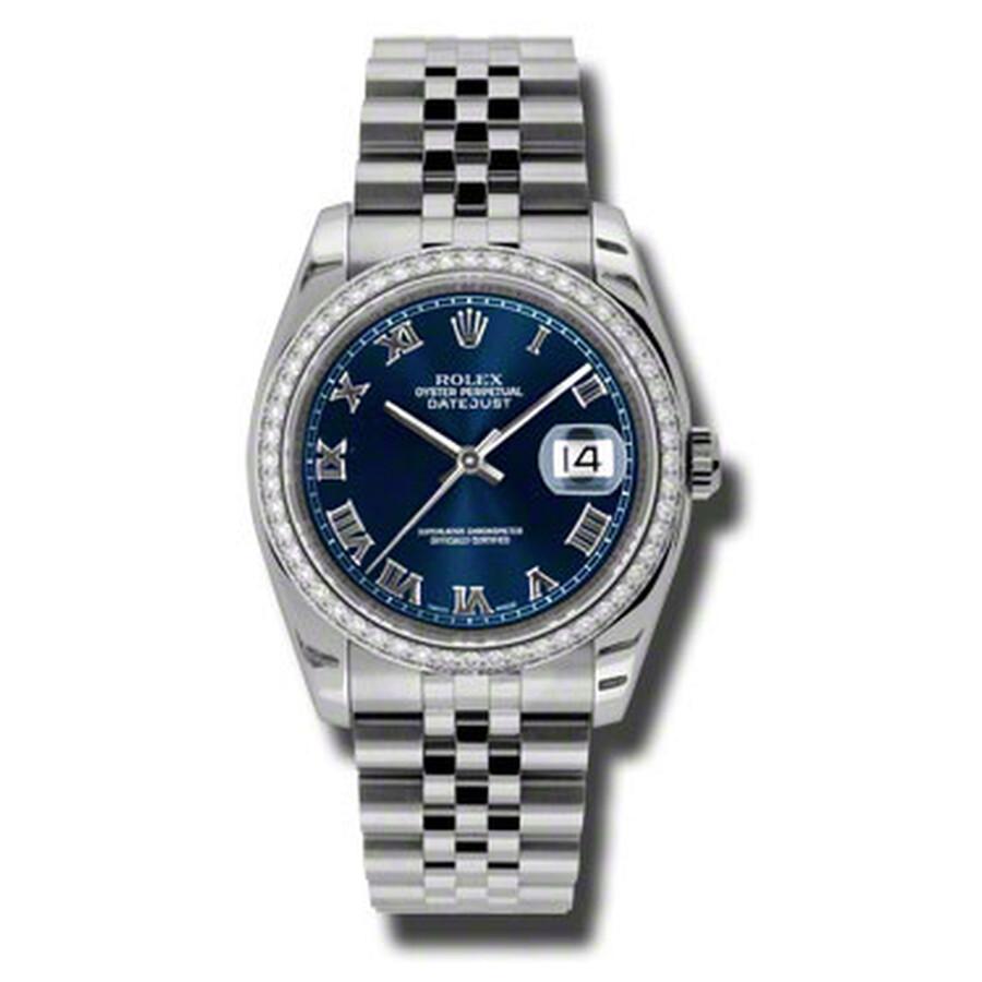 Rolex Oyster Perpetual Datejust 36 Blue Dial Stainless Steel Jubilee Bracele..