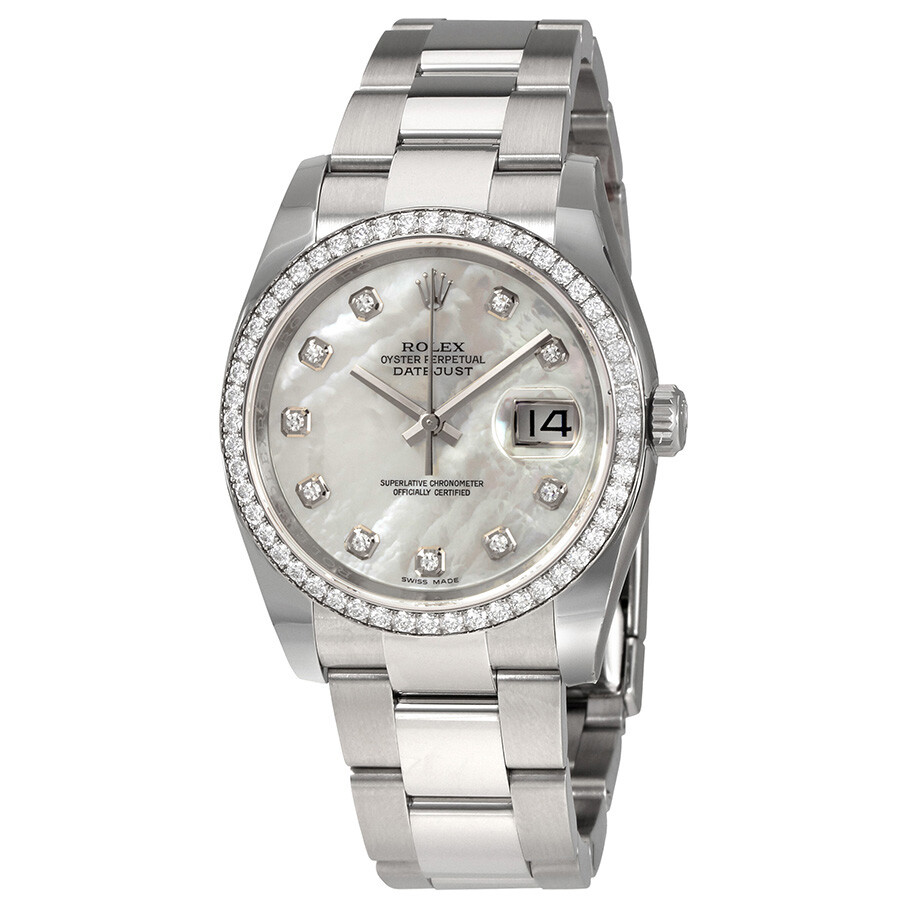 Rolex Oyster Perpetual Datejust 36 Mother of Pearl Dial Stainless Steel Brac..