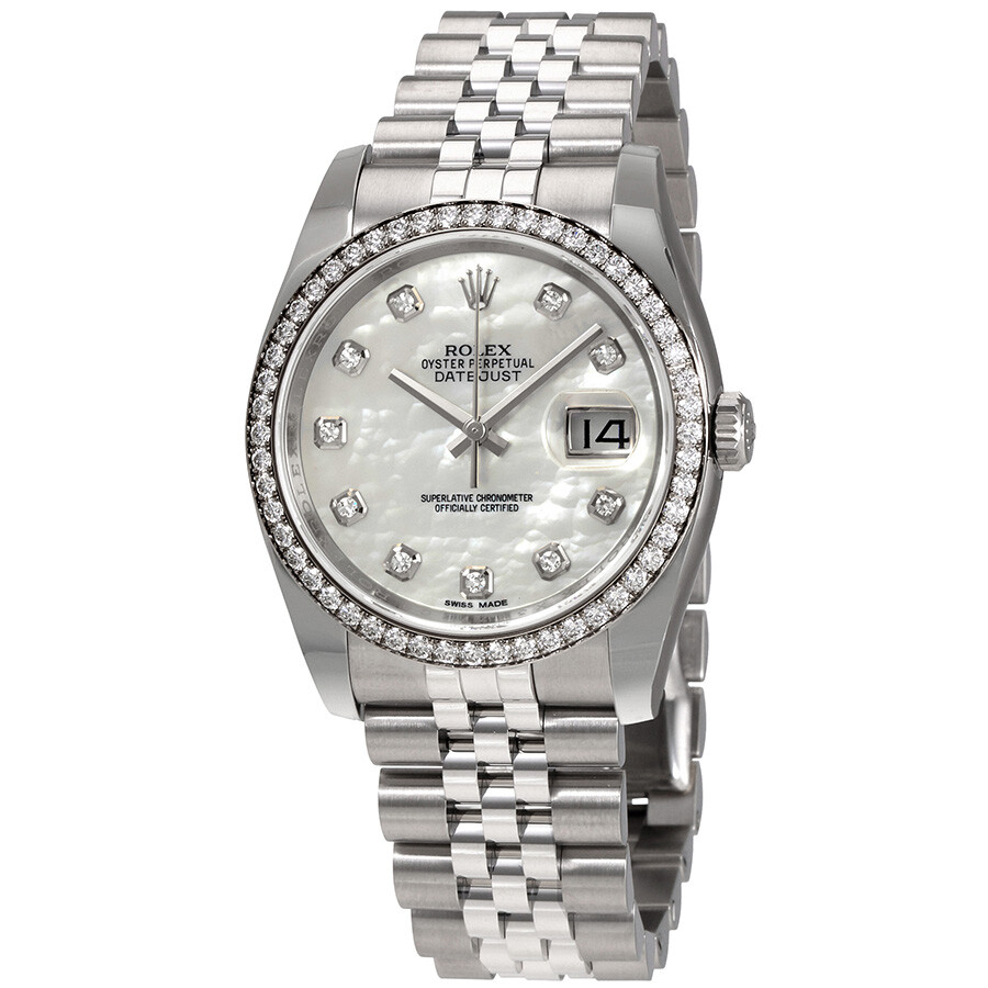Rolex Oyster Perpetual Datejust 36 Mother of Pearl Dial Stainless Steel Jubi..