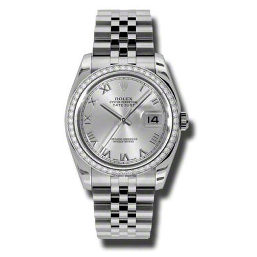 Rolex Oyster Perpetual Datejust 36 Silver Dial Stainless Steel Jubilee Brace..