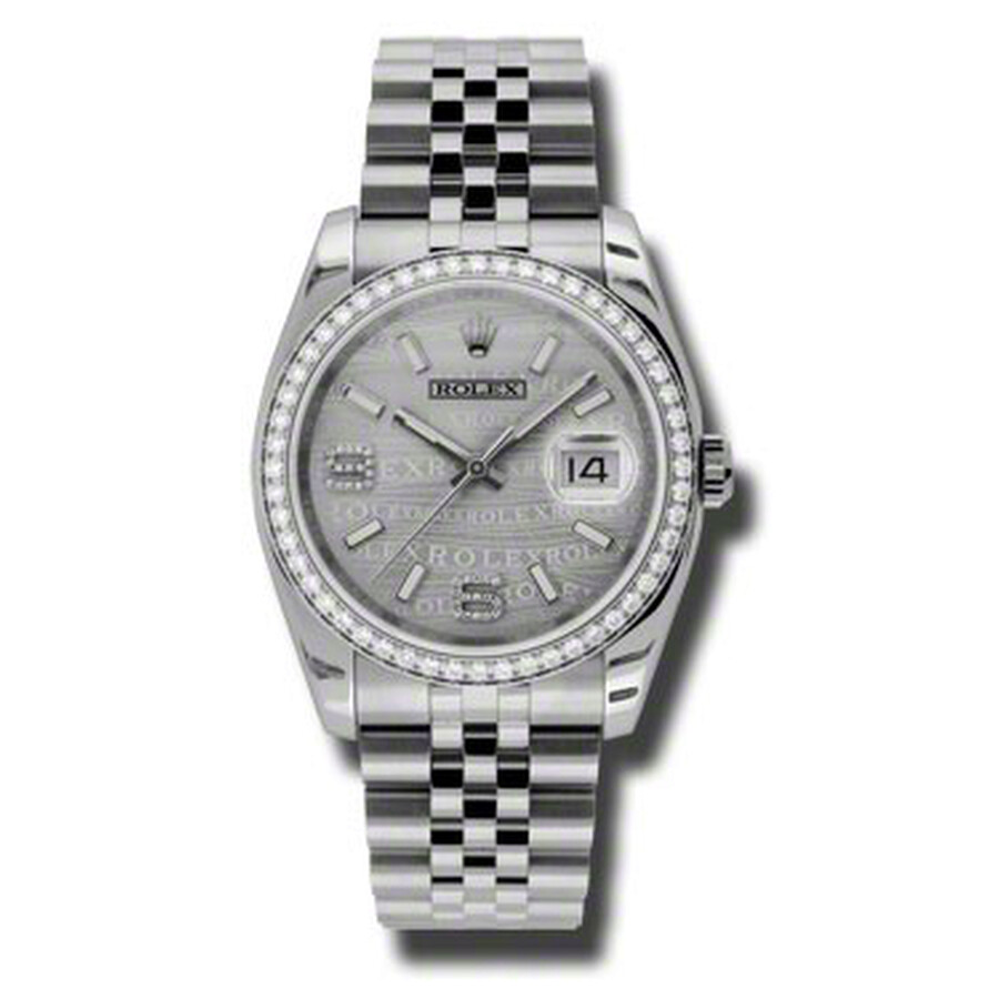 Rolex Oyster Perpetual Datejust 36 Silver Wave Dial Stainless Steel Jubilee ..