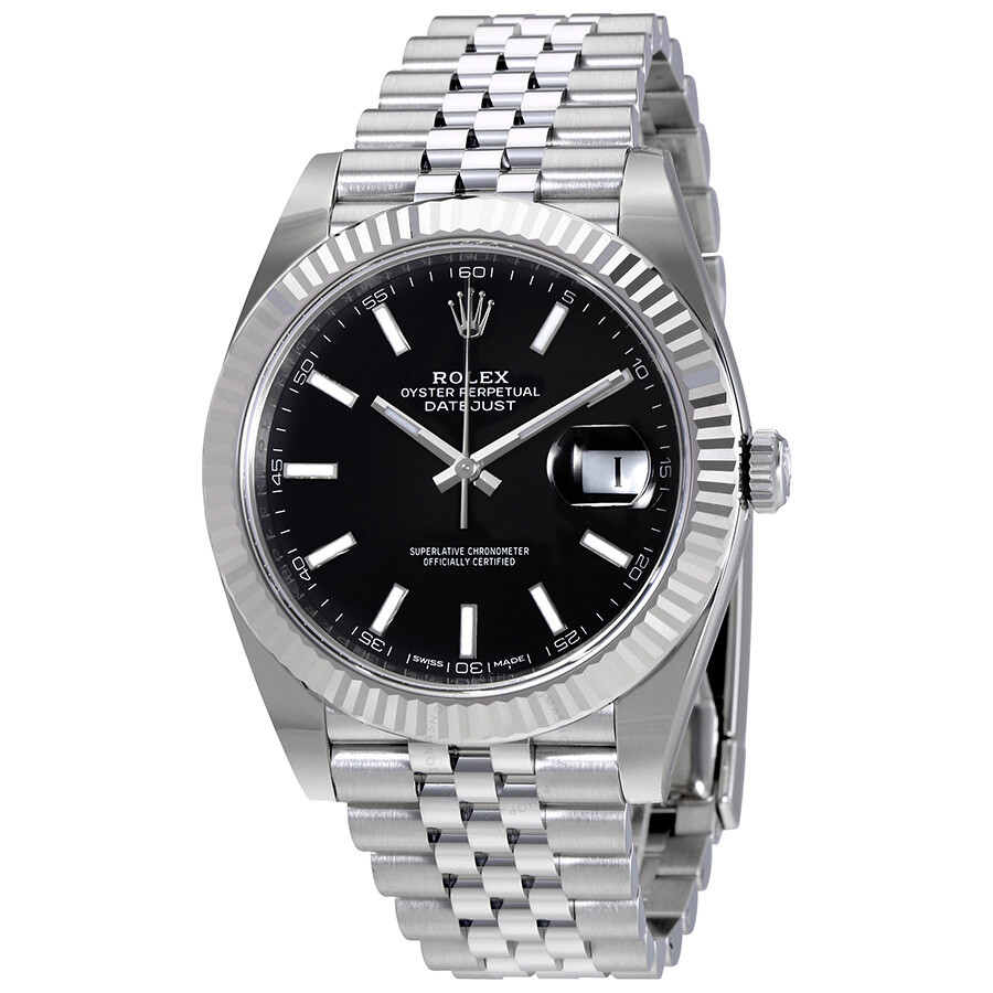 Rolex Oyster Perpetual Datejust Black Dial Jubilee Mens Watch 126334BKSJ