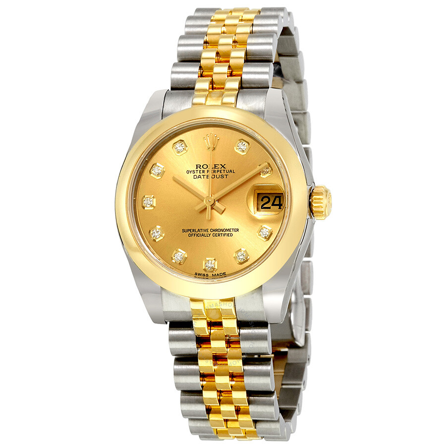 Rolex Oyster Perpetual Datejust Champagne Dial Automatic Stainless Steel and..
