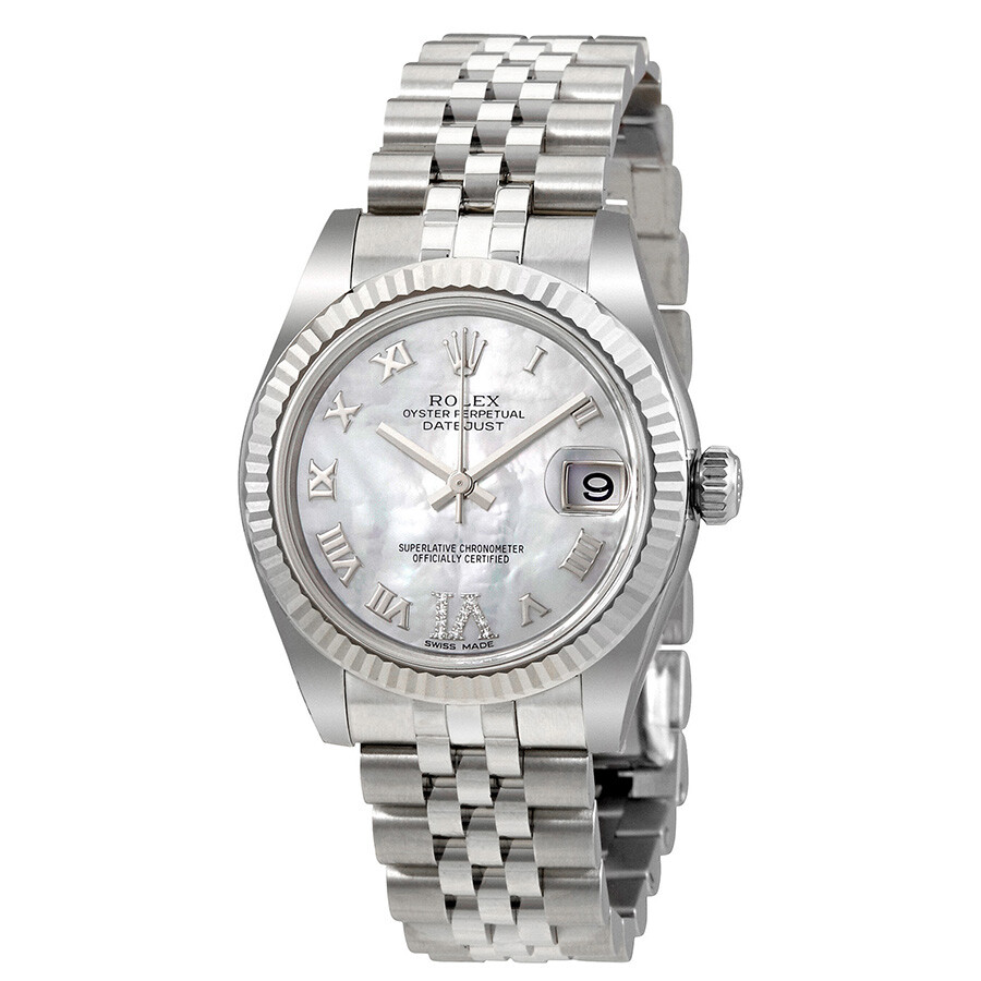 Rolex Oyster Perpetual Datejust Mother of Pearl Dial Automatic Ladies Watch ..