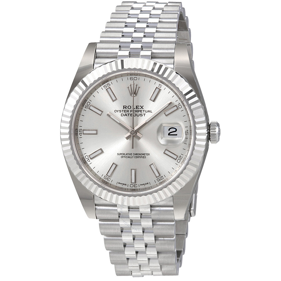Rolex Oyster Perpetual Datejust Silver Dial Automatic Mens Watch 126334SSJ