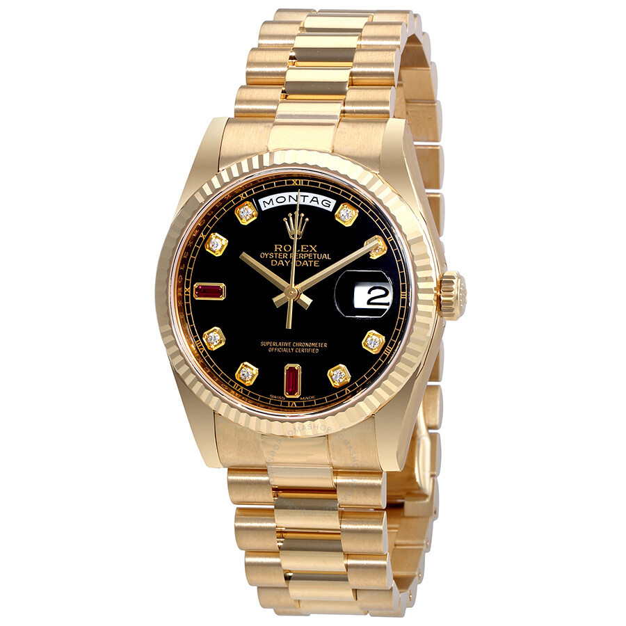 Rolex Oyster Perpetual Day-Date Automatic Ladies 18 Carat Yellow Gold Presid..