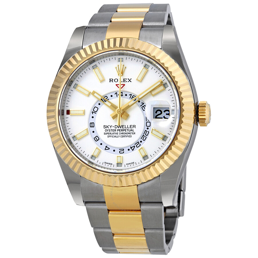 Rolex Oyster Perpetual Sky-Dweller Automatic Mens Two-tone Watch 326933WSO