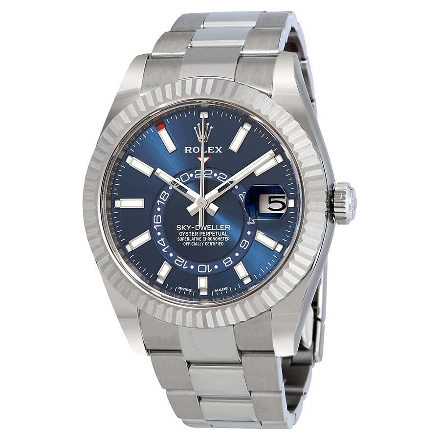 Rolex Sky-Dweller Blue Dial Automatic Mens Oyster Watch 326934BLSO