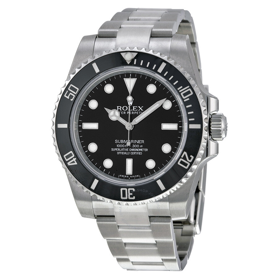 Rolex submariner automatic black dial men 39 s watch 114060 submariner rolex watches jomashop for Jason statham rolex explorer