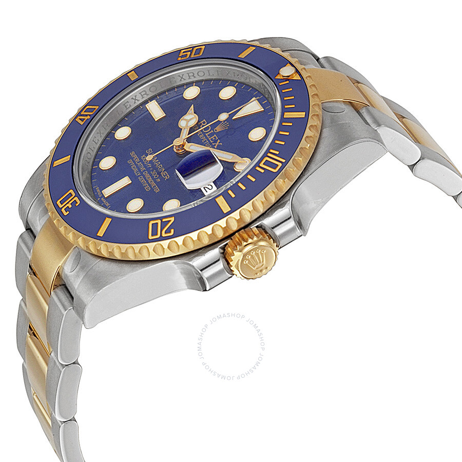 Rolex Submariner Blue Dial Stainless Steel And 18k Yellow