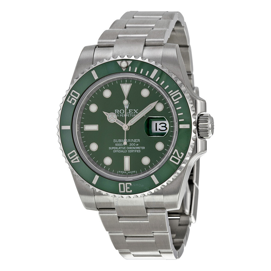 Rolex submariner green dial steel men 39 s watch 116610lv submariner rolex watches jomashop for Submarine watches