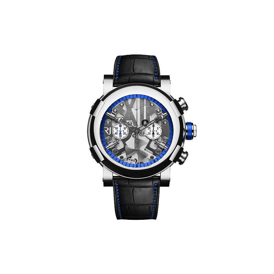 "Romain Jerome Steampunk Limited Edition ""Heat"" Skeleton Dial Black Rubber Mens Watch RJ.T.CH. SP.005."