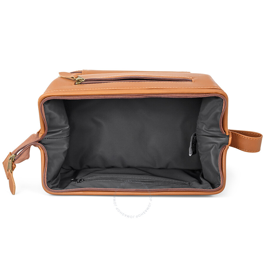 Royce Leather Royce 100% Leather Toiletry Bag with Zippered Bottom Compartment NH999FcFMP