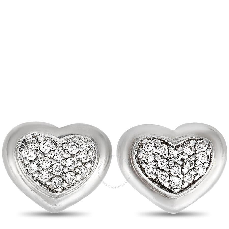 Scott Kay Sterling Silver Center 0.15ct Diamond Heart Stud Earrings E1058SPADM