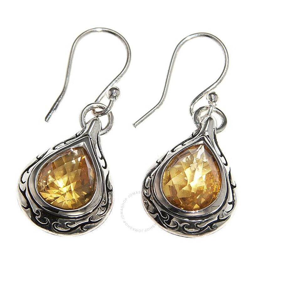 Scott Kay Sterling Silver Orange Citrine Drop Earrings E1642SPACM