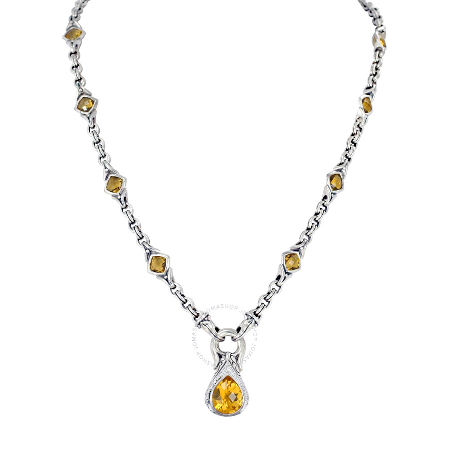 Scott Kay Sterling Silver White Gold and Citrine Necklace N1654SPACDM17