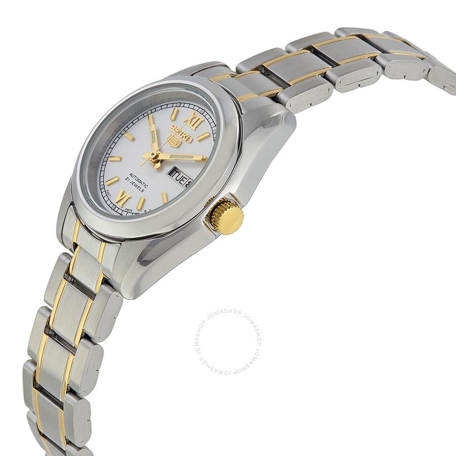 Seiko 5 Black Dial Stainless Steel Mechanical Ladies Watch Casio Ltp 1230d 7cdf Jam Tangan Wanita