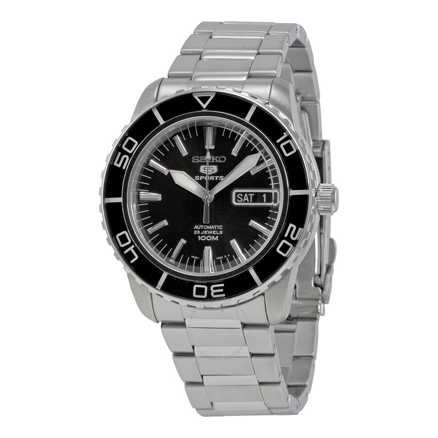 seiko fifty five fathoms automatic black dial men 39 s watch. Black Bedroom Furniture Sets. Home Design Ideas