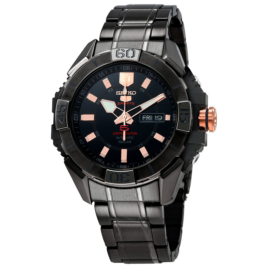 Seiko 5 Automatic Black Dial Mens Watch SRPA31