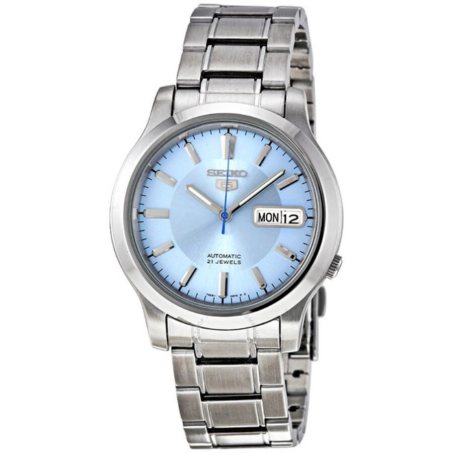 789c0433d Shoptagr | 5 Automatic Light Blue Dial Men's Watch by Seiko