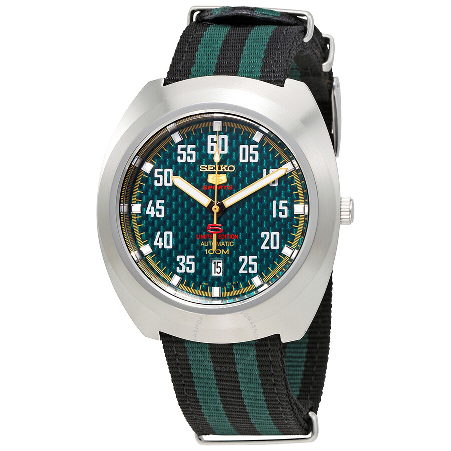 seiko male seiko 5 sports automatic green dial mens watch srpa89k1