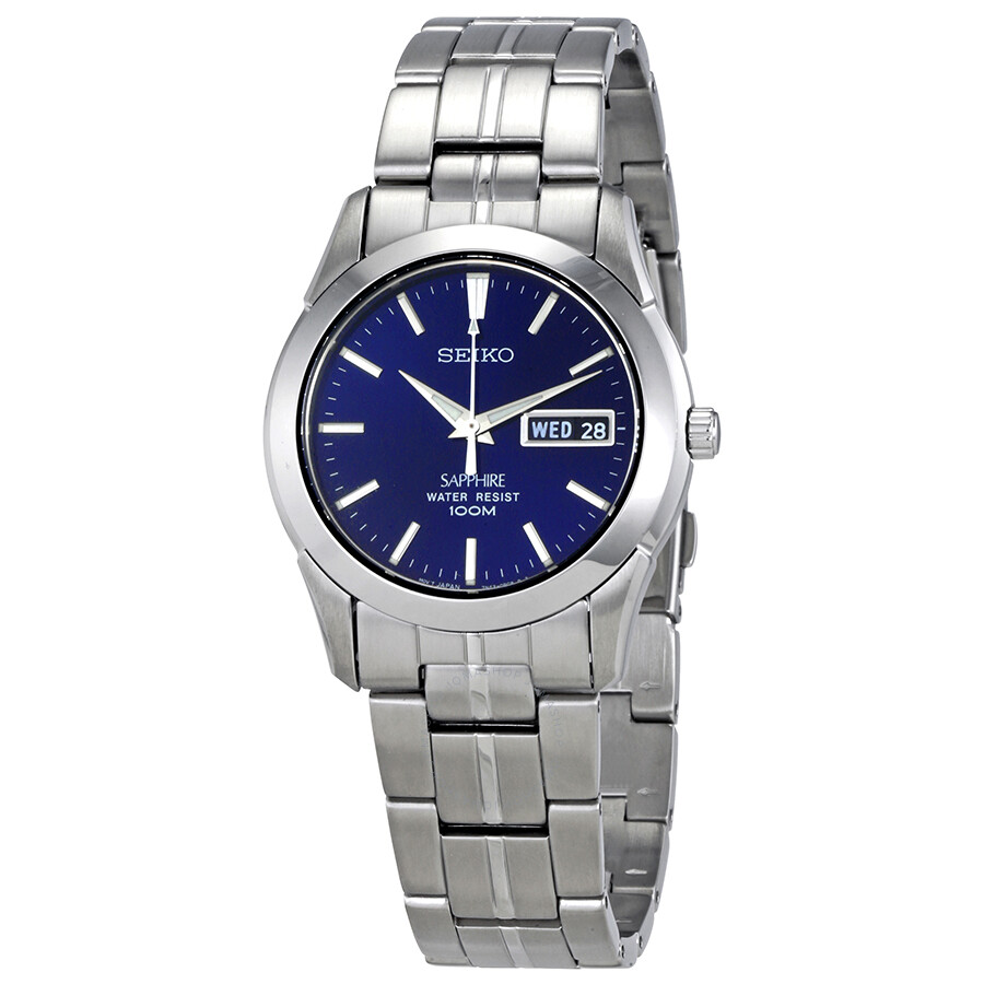 Seiko Blue Dial Mens Titanium Watch SGG717P1