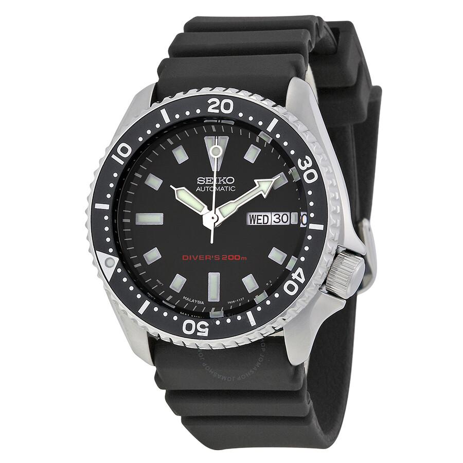 seiko diver automatic black dial men 39 s watch skx173. Black Bedroom Furniture Sets. Home Design Ideas