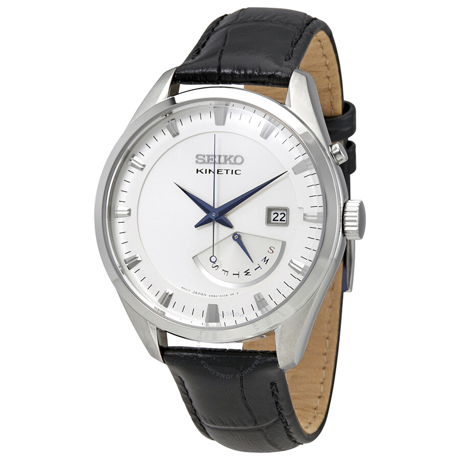 Seiko kinetic cream dial men 39 s watch srn071 kinetic seiko watches jomashop for Seiko kinetic watches