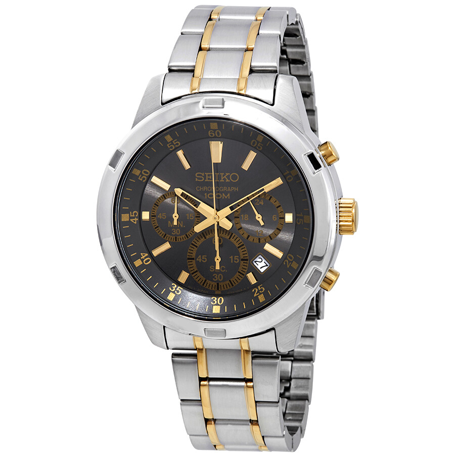 Seiko Neo Sports Chronograph Grey Dial Mens Watch SKS609P1